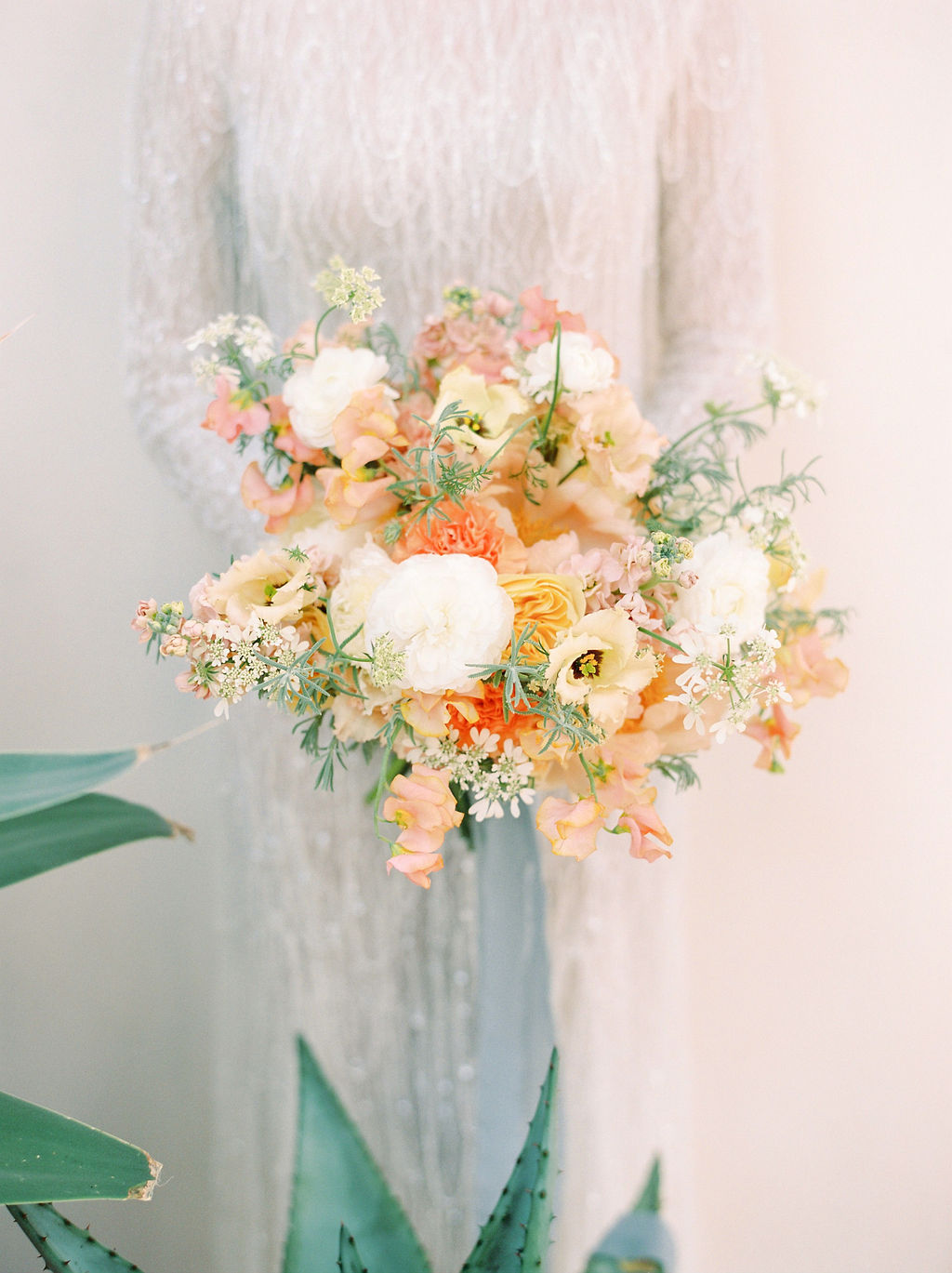 Timeless Spring Wedding Design With A Modern Twist Bridal Bouquet