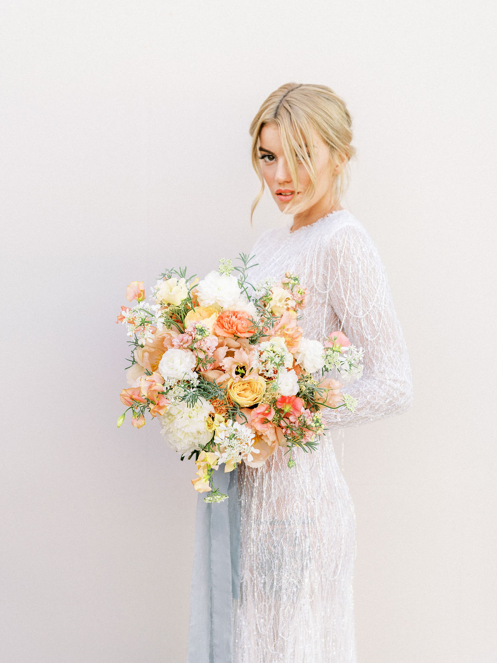 Timeless Spring Wedding Design With A Modern Twist Bride Portrait