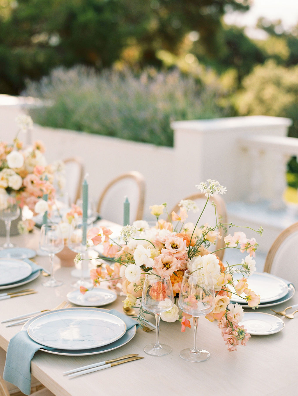 Timeless Spring Wedding Design With A Modern Twist Table Setup