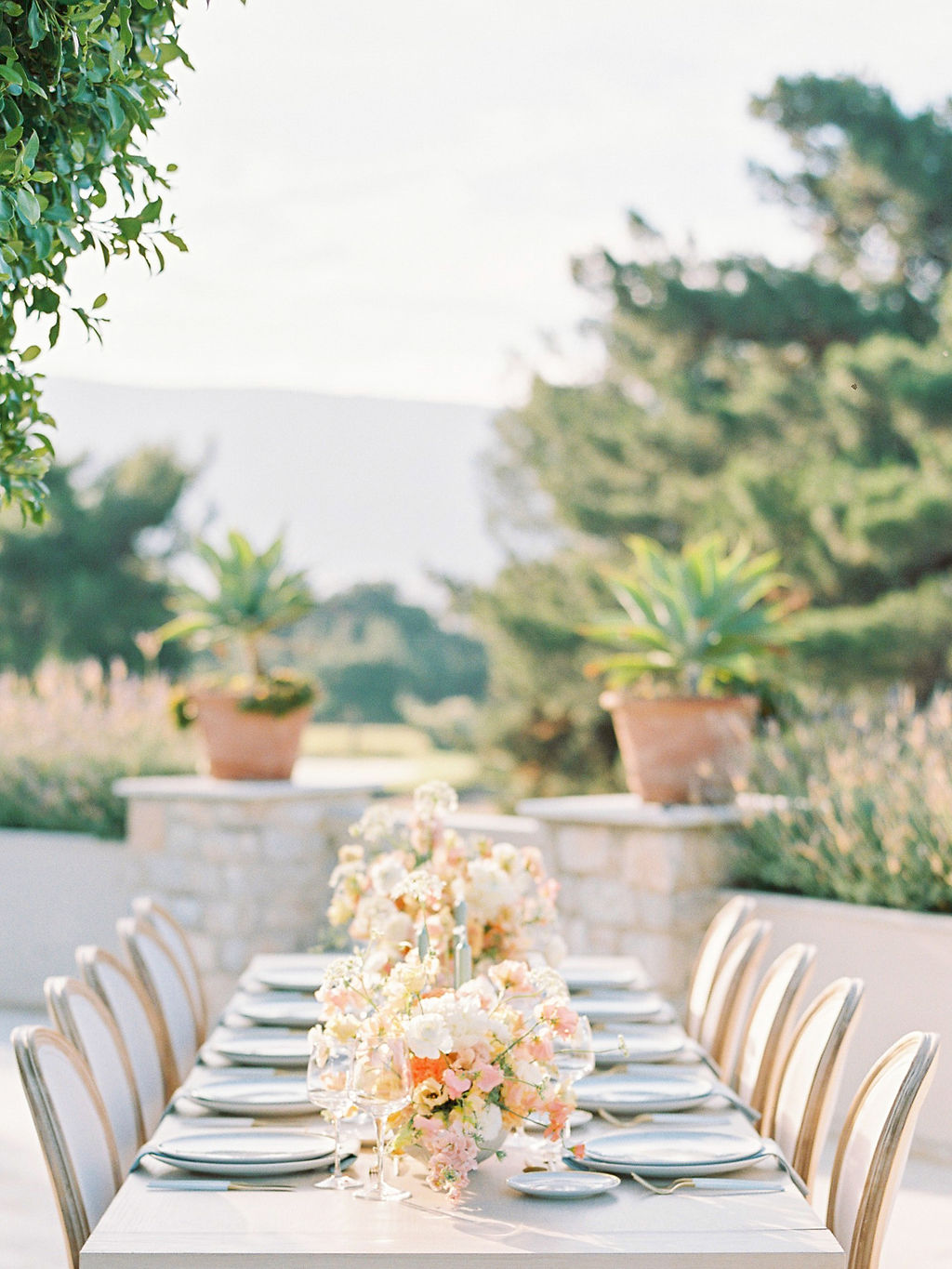 Wedding In Greece At Golf Prive. - Table Setting