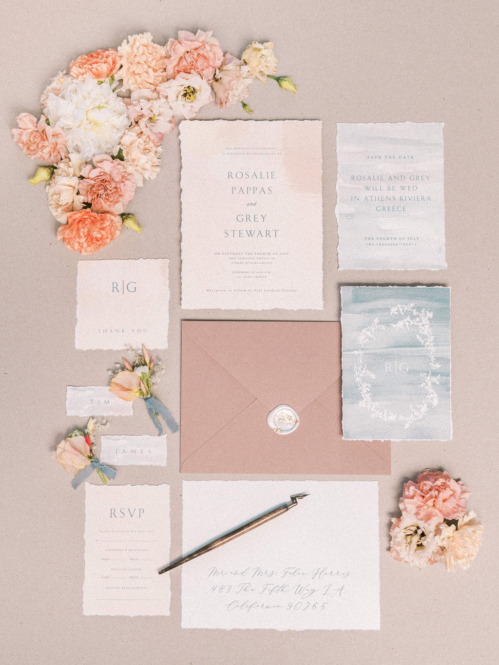 Timeless Spring Wedding Design With A Modern Twist Wedding Stationery