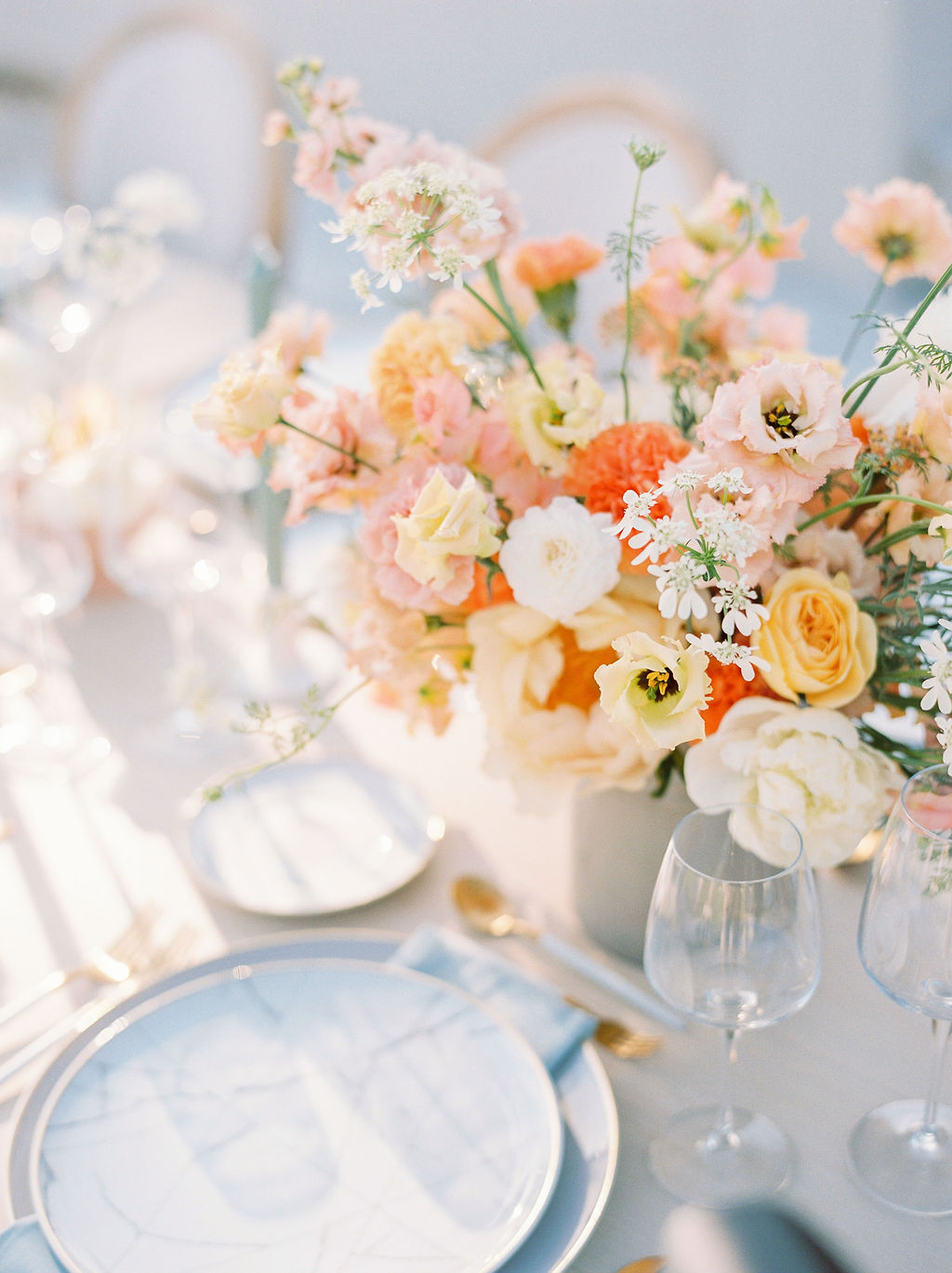 Timeless Spring Wedding Design With A Modern Twist Florals