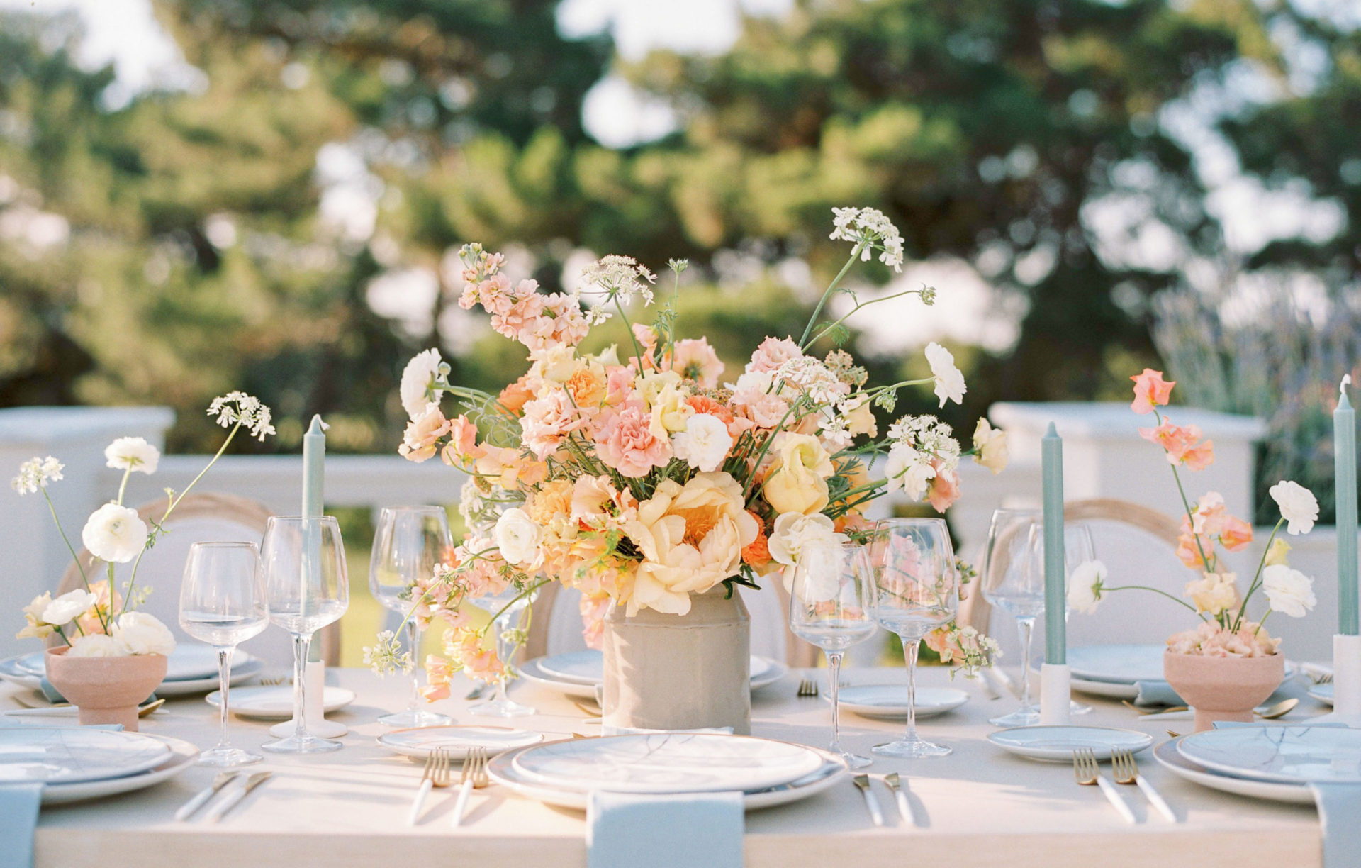Timeless Spring Wedding Design With A Modern Twist Table Setting