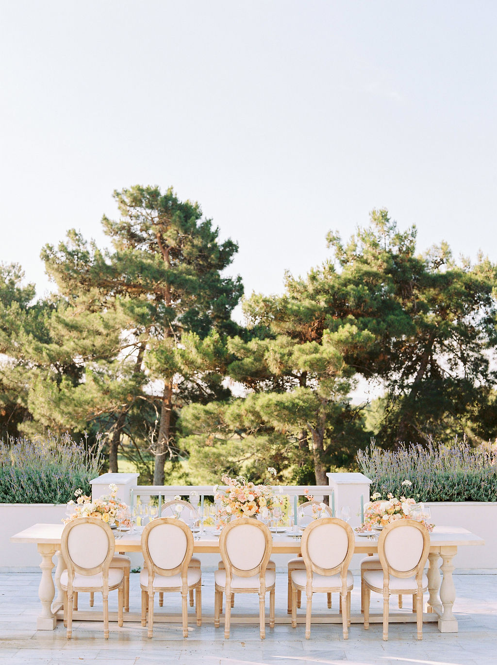 Wedding In Greece At Golf Prive - Table Setting