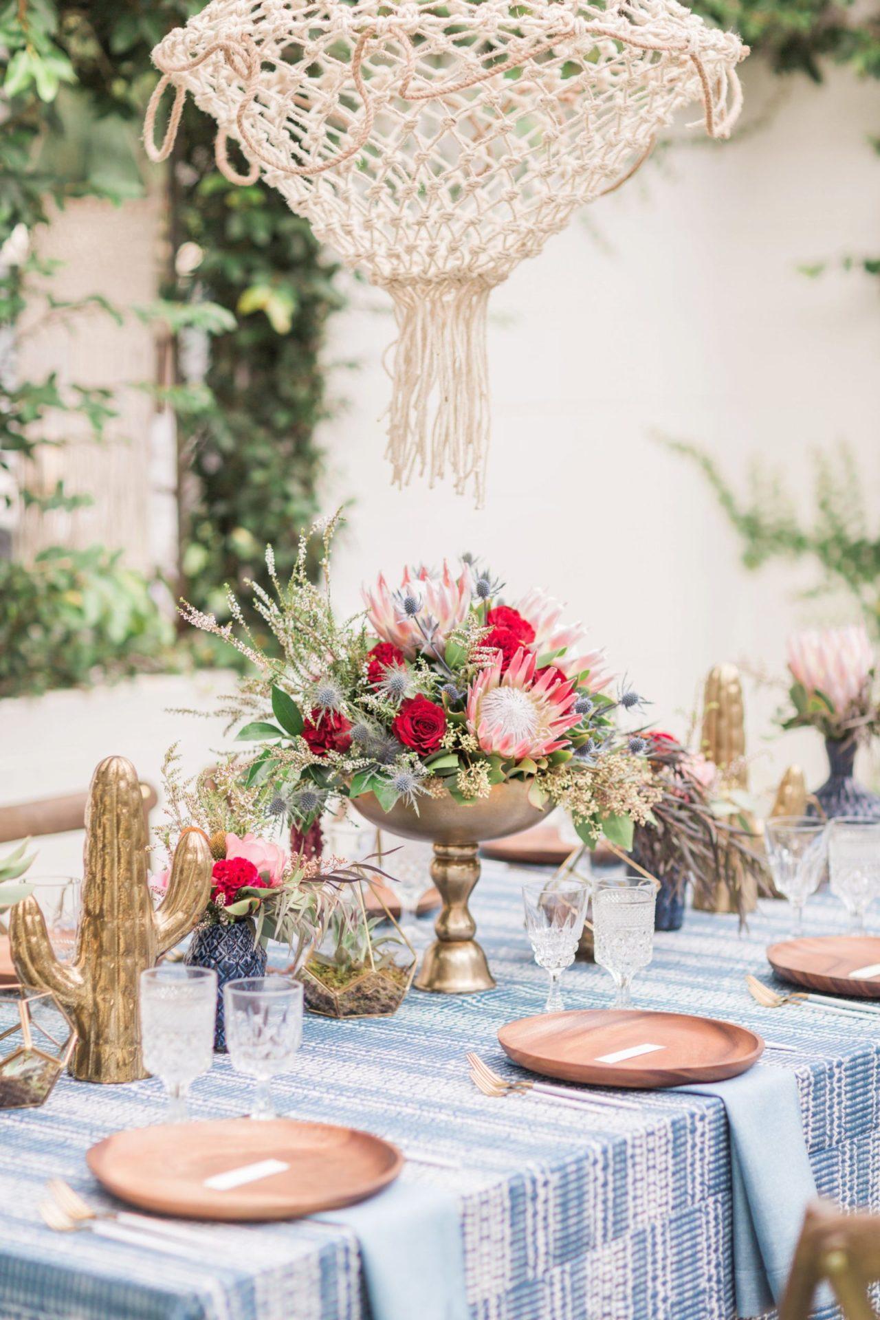 Blue Indigo Inspired Garden Dinner Party Art De La Table