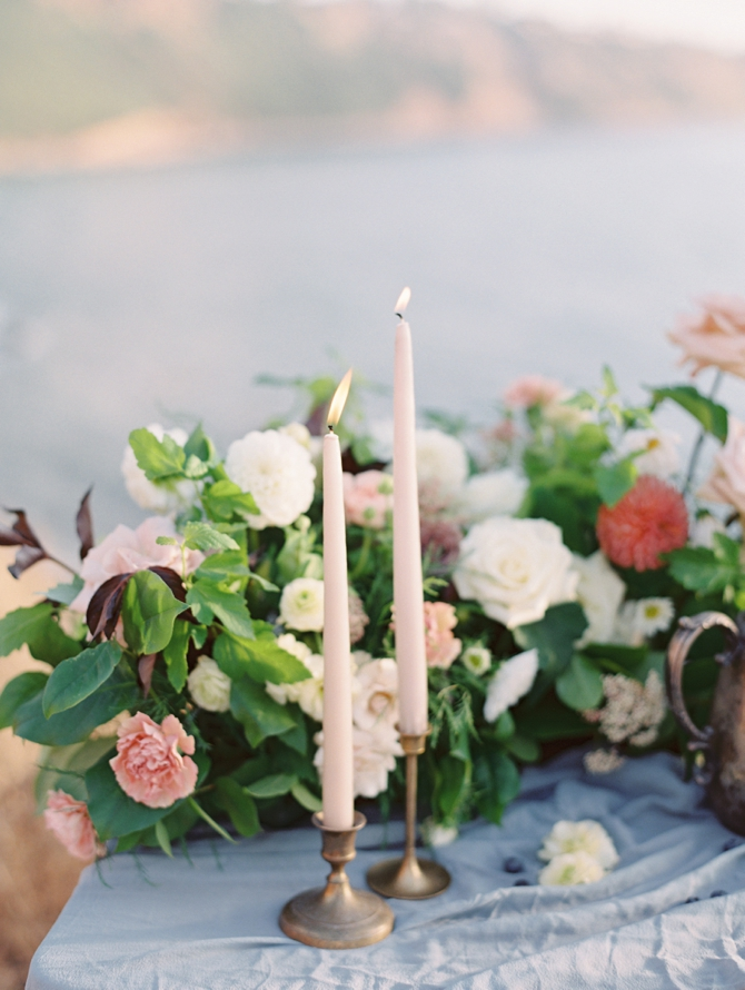 Classy Coastal Elopement In Greece Table Setting Details