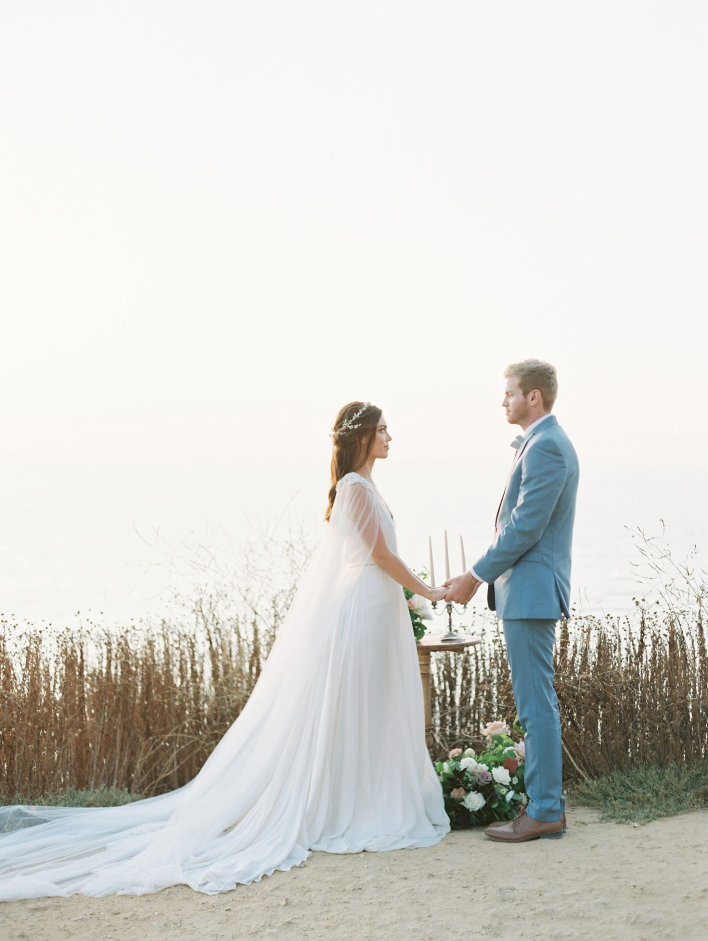 Classy Coastal Elopement In Greece Wedding Ceremony