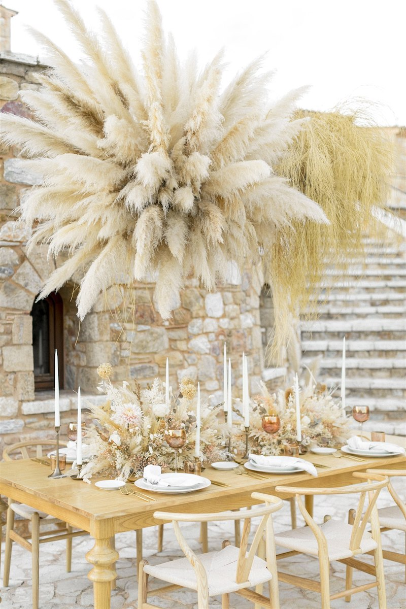 Dashing Elegance In Neutral Tones At Pyrgos Petreza Table Setting Details