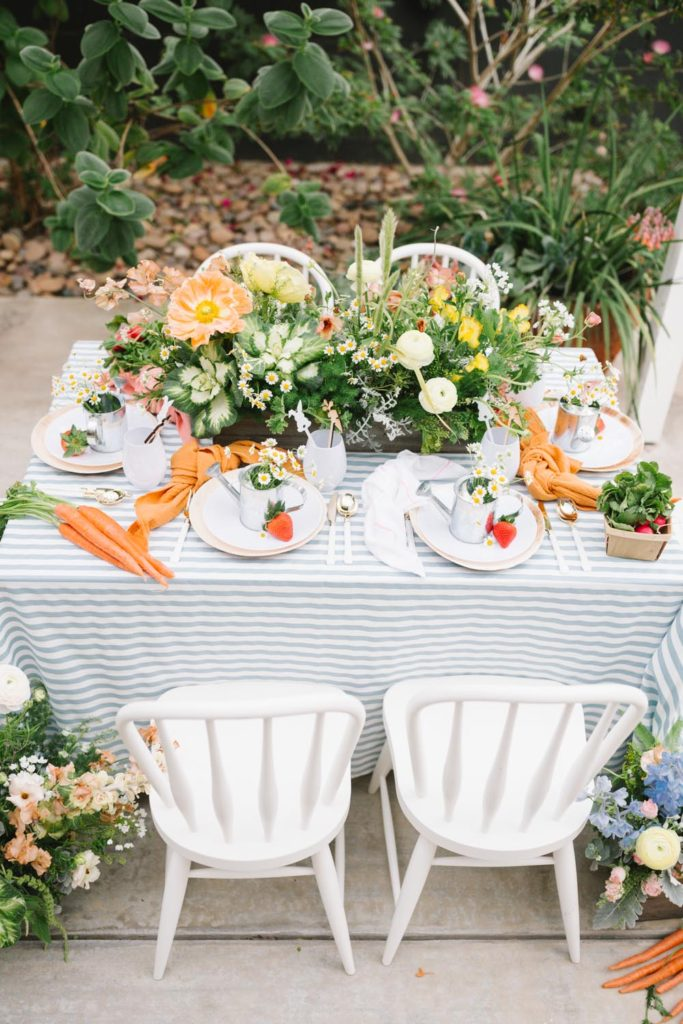Peter Rabbit Inspired Easter Brunch For Our Little Friends Table Setting