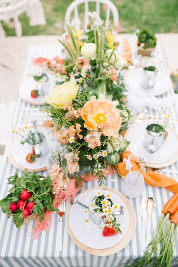 Peter Rabbit Inspired Easter Brunch For Our Little Friends Table Setting Decor Details