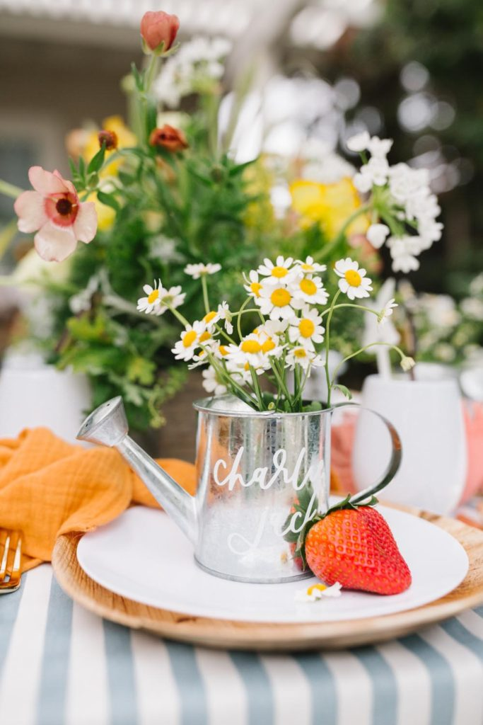 Peter Rabbit Inspired Easter Brunch For Our Little Friends Table Setting Details