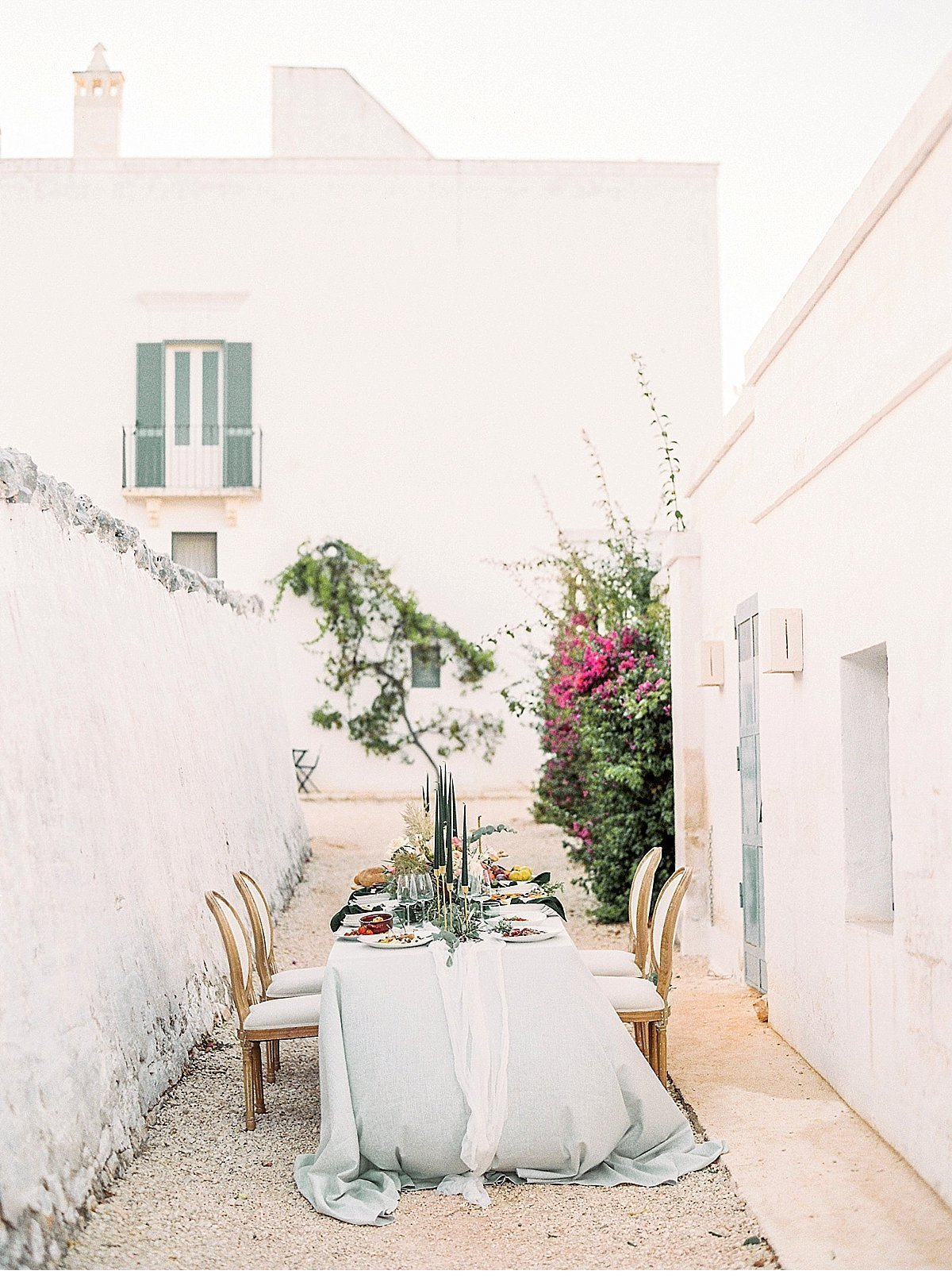 Elegant And Sophisticated Wedding In Jewel Tones In Paros Table Setting