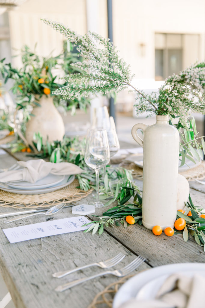 Farm To Table Summer Soiree With An Organic Vibe Table Setting Details