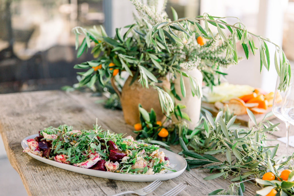 Farm To Table Summer Soiree With An Organic Vibe Family Style Menu
