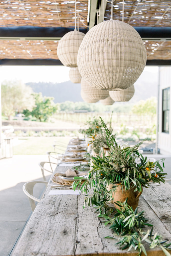 Farm To Table Summer Soiree With An Organic Vibe Dinner Table Setup
