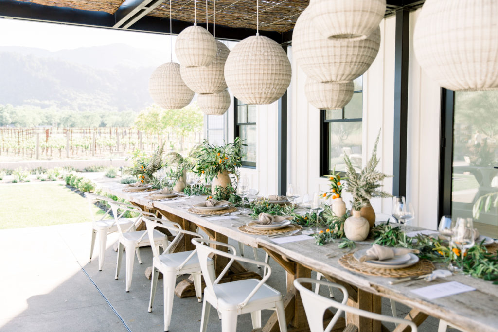Farm To Table Summer Soiree With An Organic Vibe Table Setting