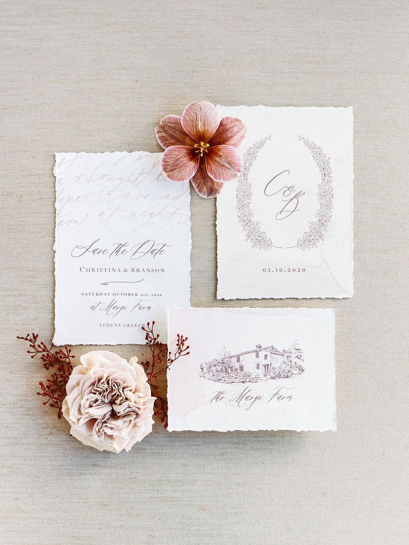 Wedding In Greece - Wedding Stationary
