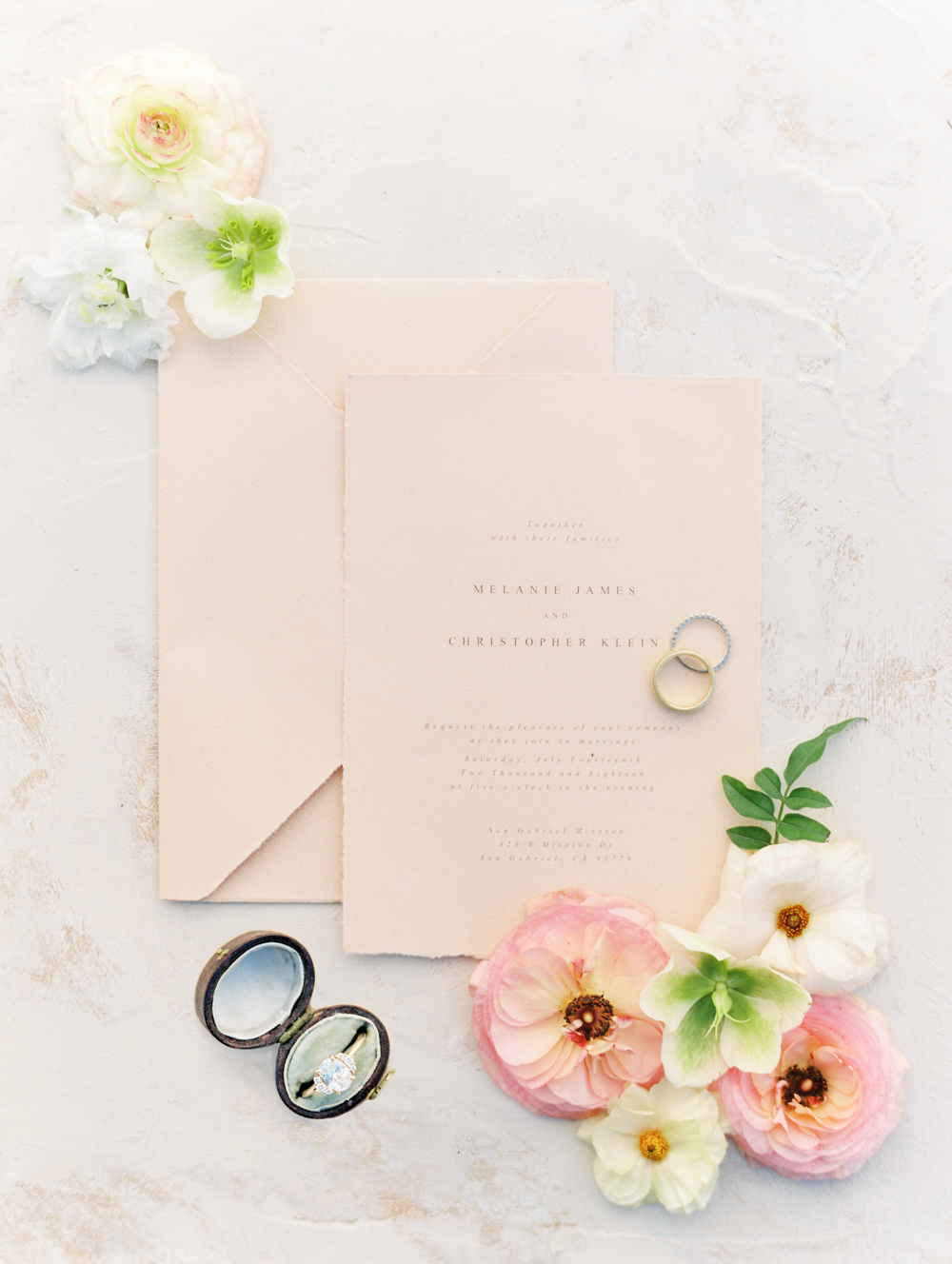 Modern Romantic Elopement Wedding Stationery