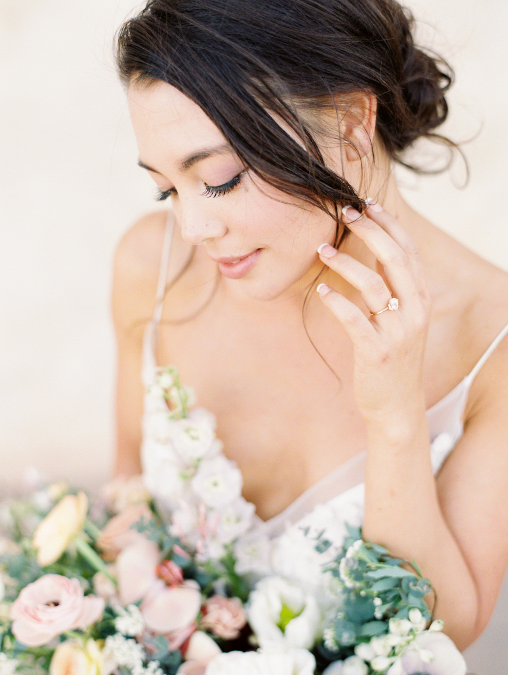 Modern Romantic Elopement Bride Portrait