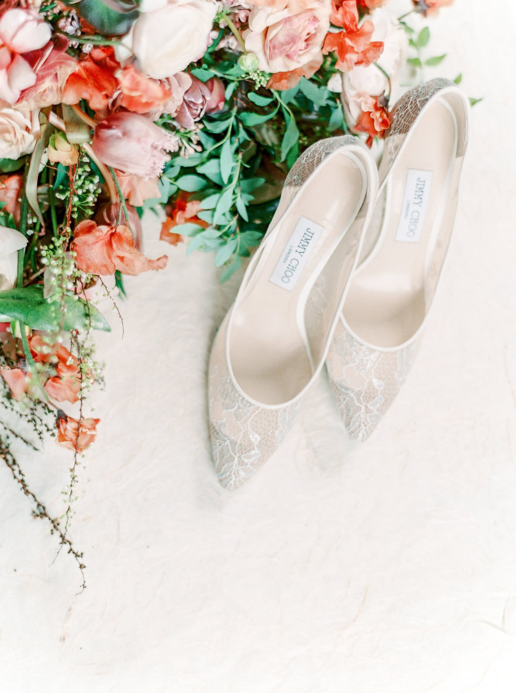 Old World Charm In Blush & Terracotta Tones Bridal Shoes