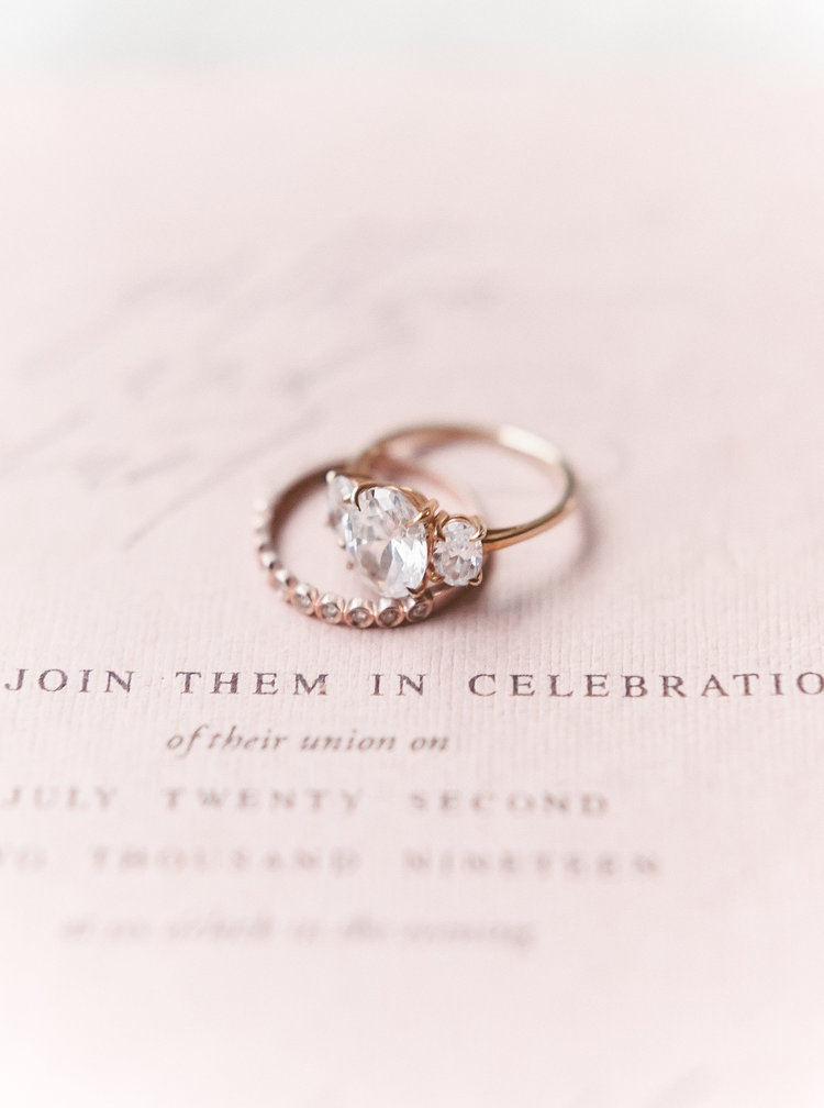 Old World Charm In Blush & Terracotta Tones Wedding Rings