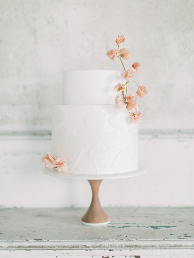 Old World Charm In Blush & Terracotta Tones Wedding Cake