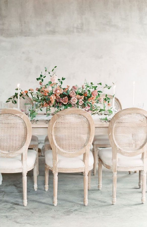 Old World Charm In Blush & Terracotta Tones Table Setting