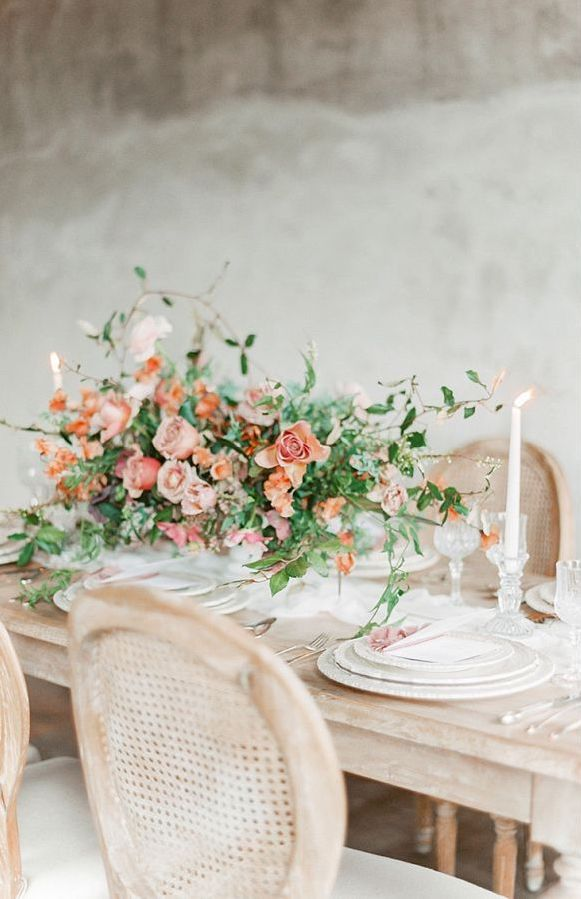 Old World Charm In Blush & Terracotta Tones Table Setting Details