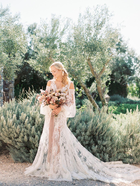 Wedding In Greece At The Margi Farm - Bride Portrait