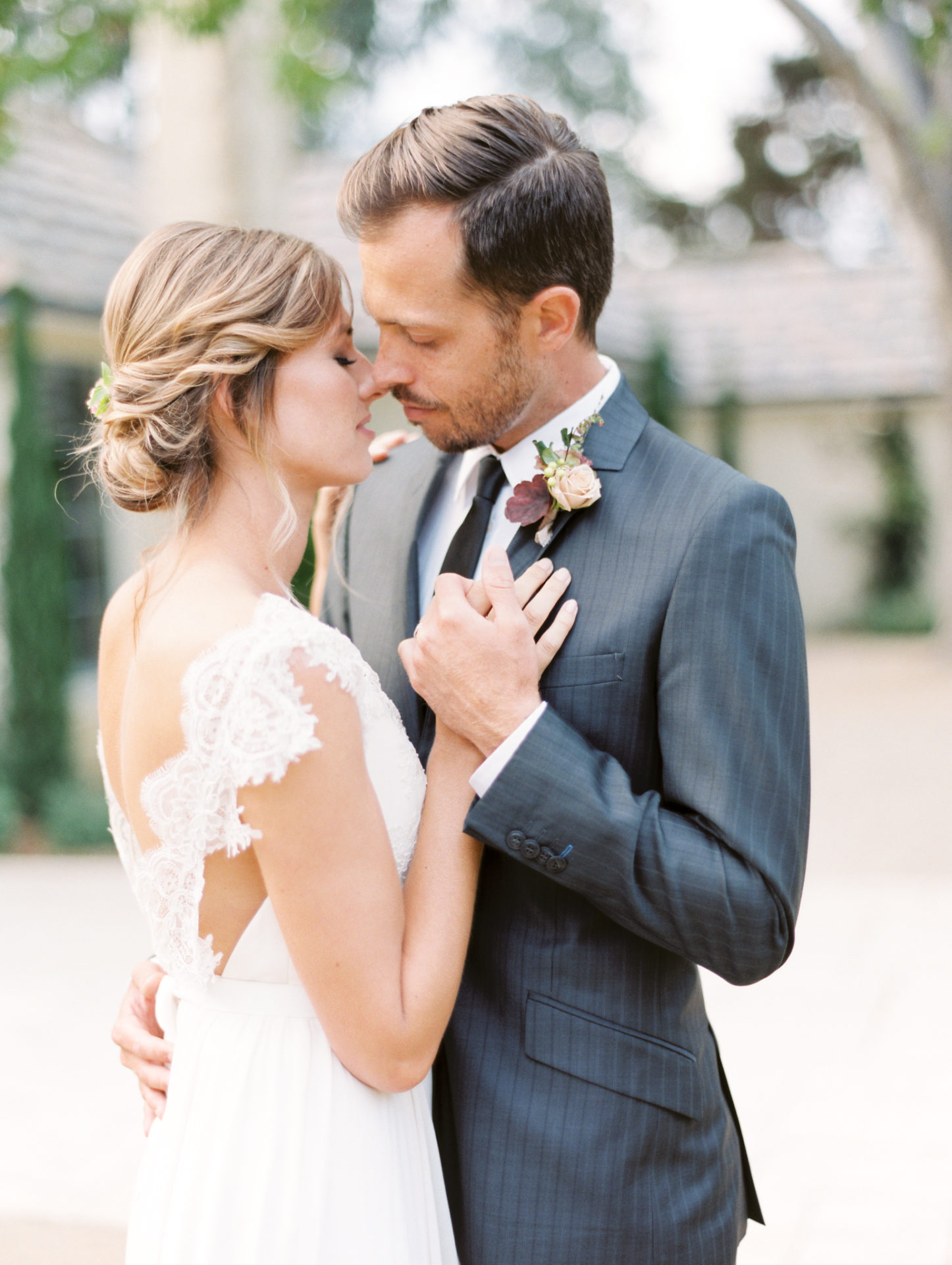 Timeless Spring Wedding Design With A Modern Twist Couple Portrait