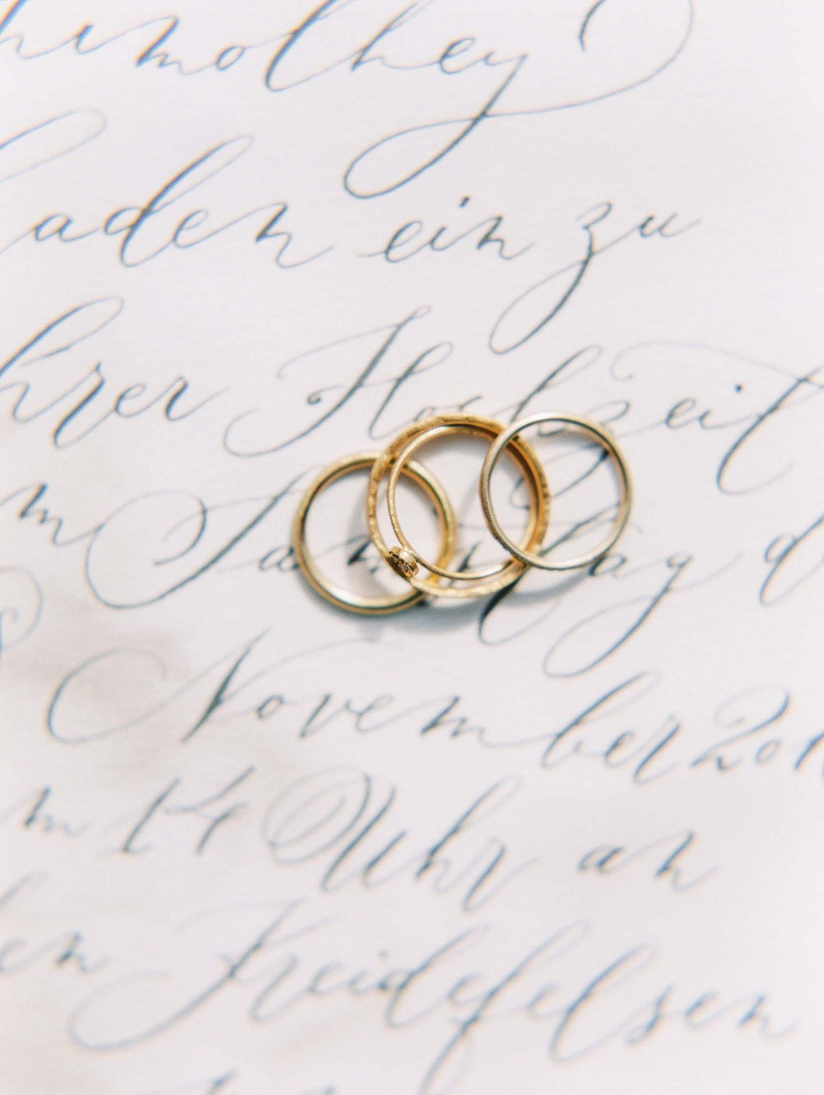 Stylish Al Fresco Wedding In Mani Wedding Rings