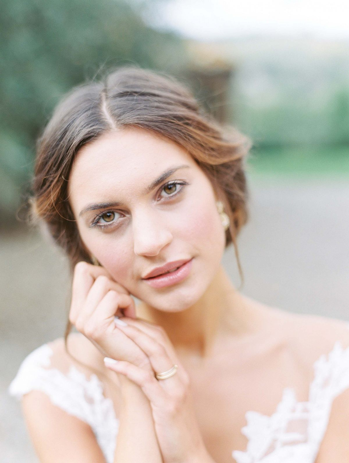 Stylish Al Fresco Wedding In Mani Bride Portrait