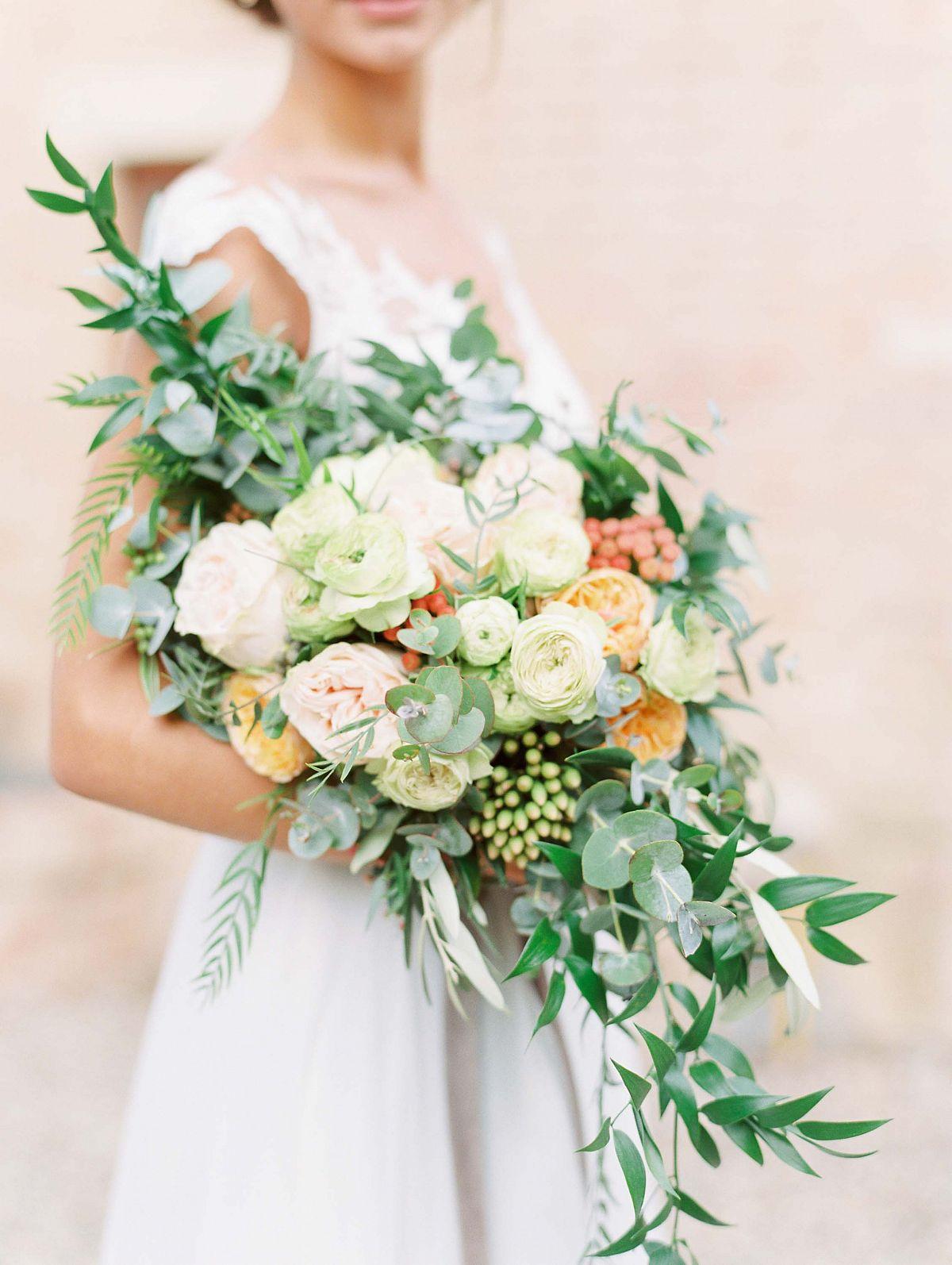 Stylish Al Fresco Wedding In Mani Bridal Bouquet