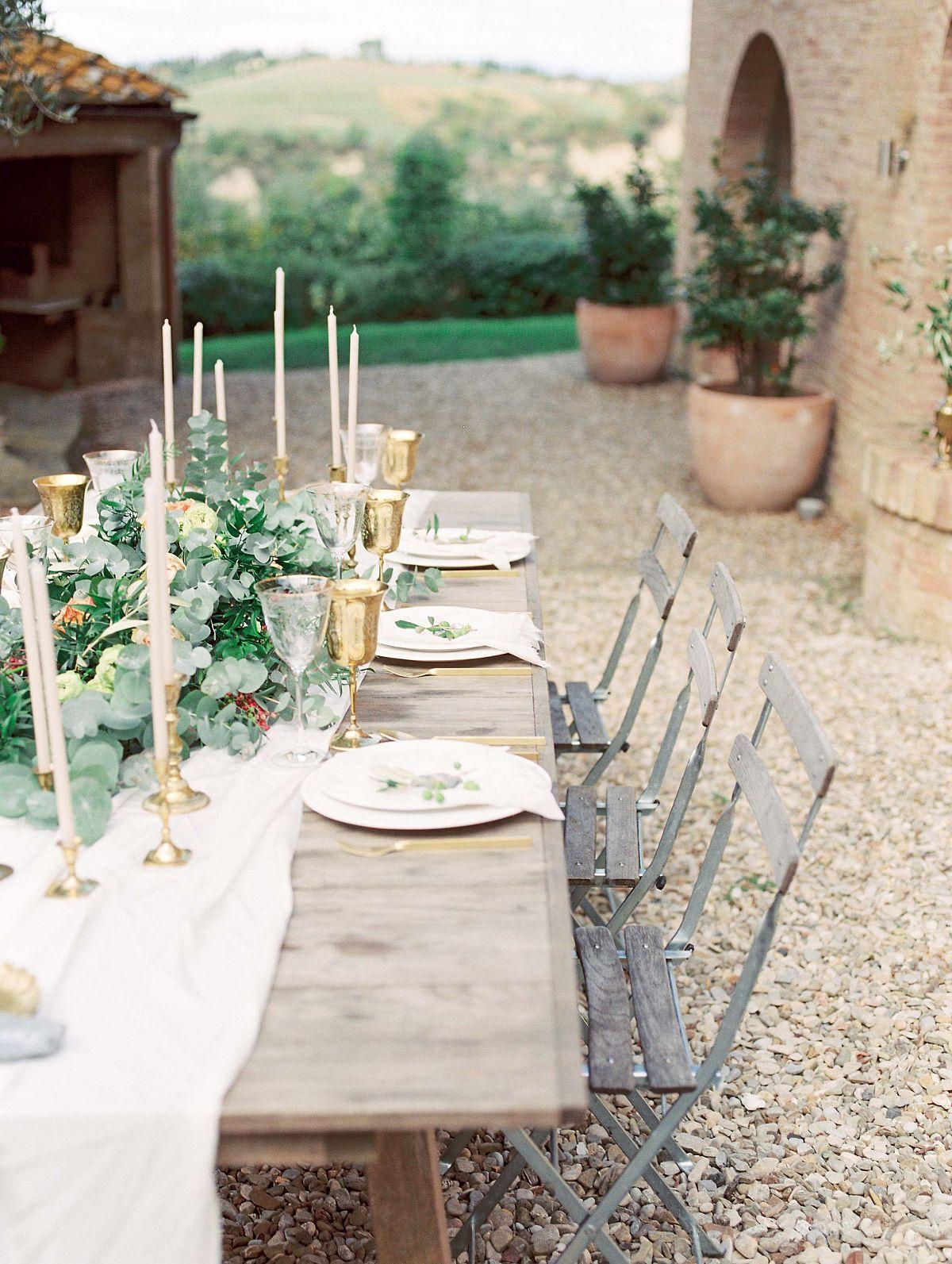 Stylish Al Fresco Wedding In Mani Table Setting