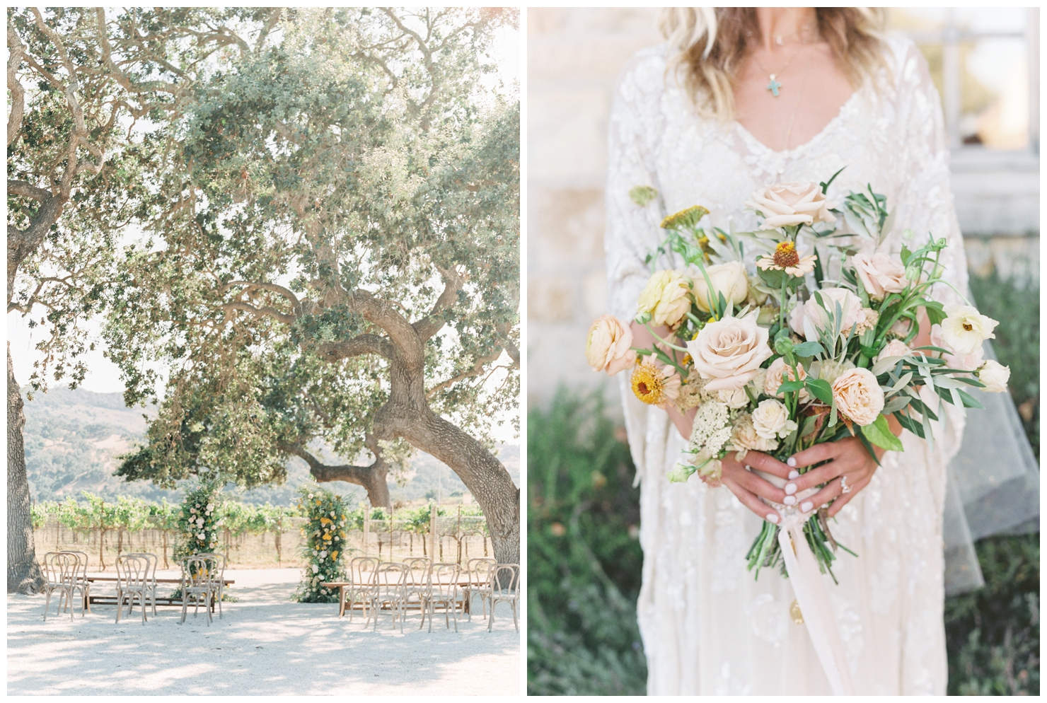 Stylish And Summery Wedding At A Winery In Greece Bridal Bouquet