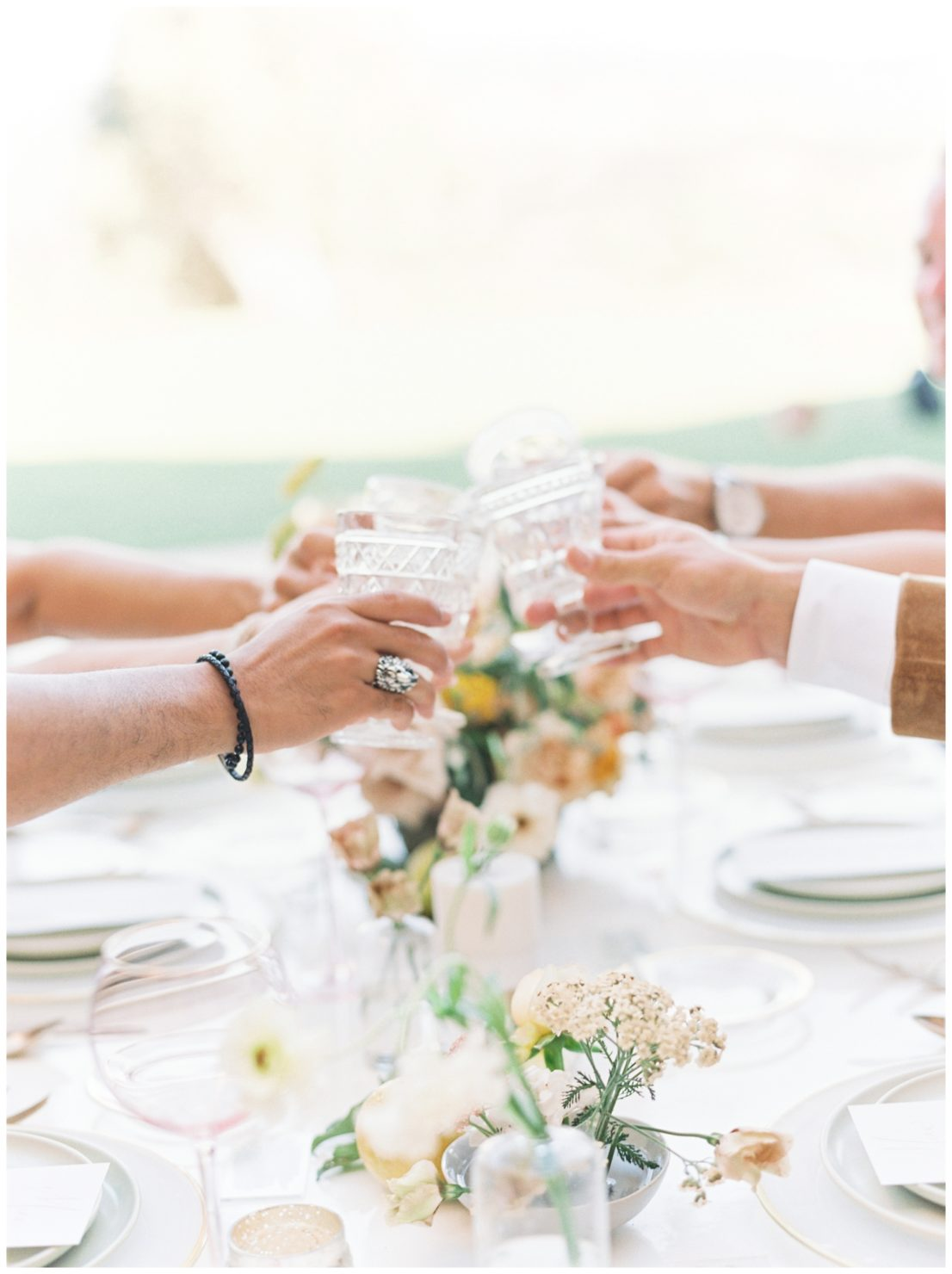 Stylish And Summery Wedding At A Winery In Greece Table Setting