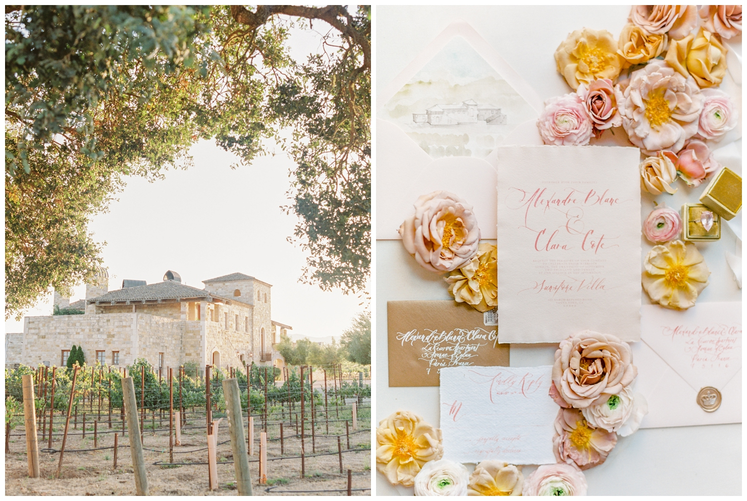 Stylish And Summery Wedding At A Winery In Greece Wedding Stationery