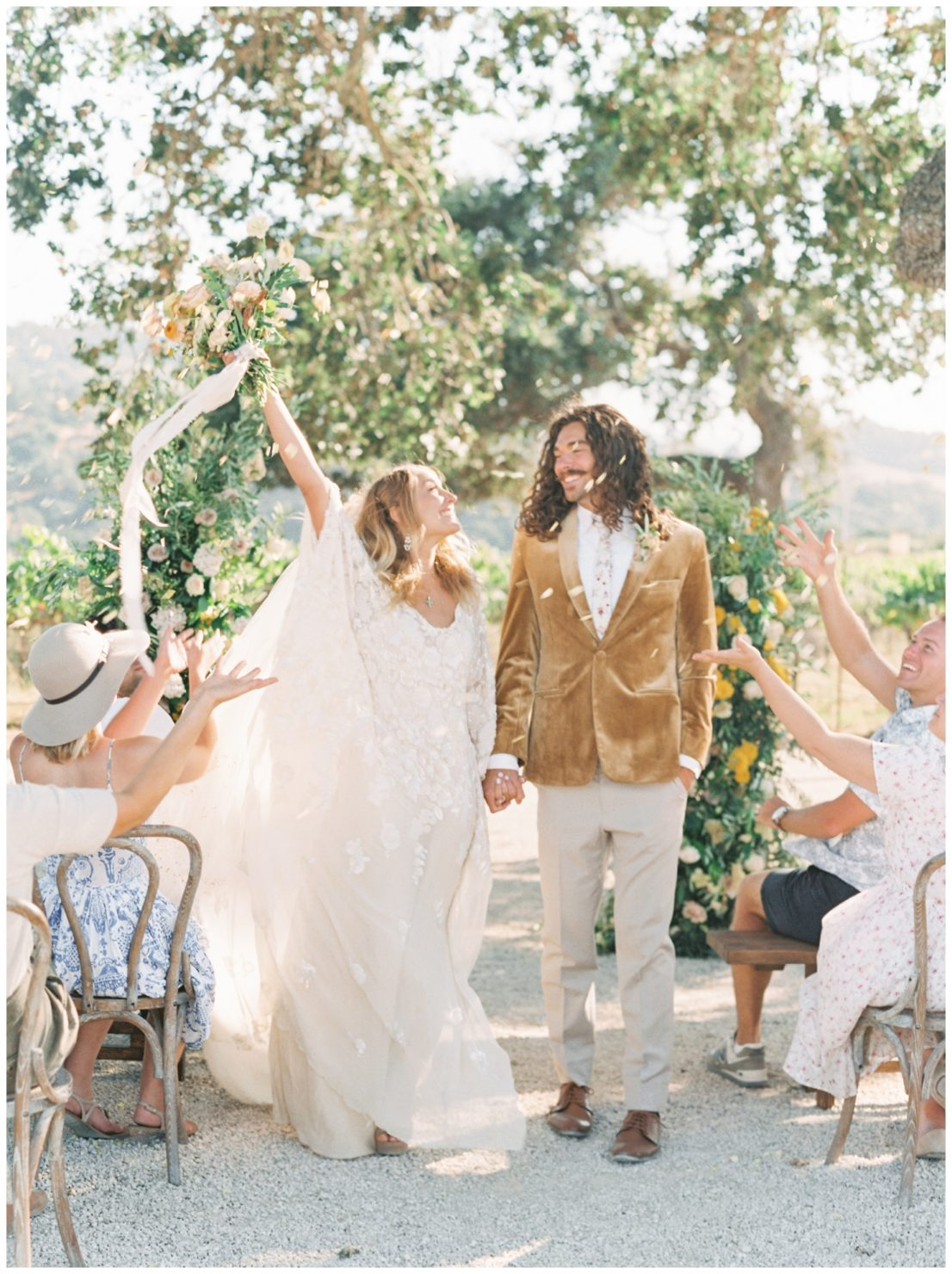 Stylish And Summery Wedding At A Winery In Greece Wedding Ceremony