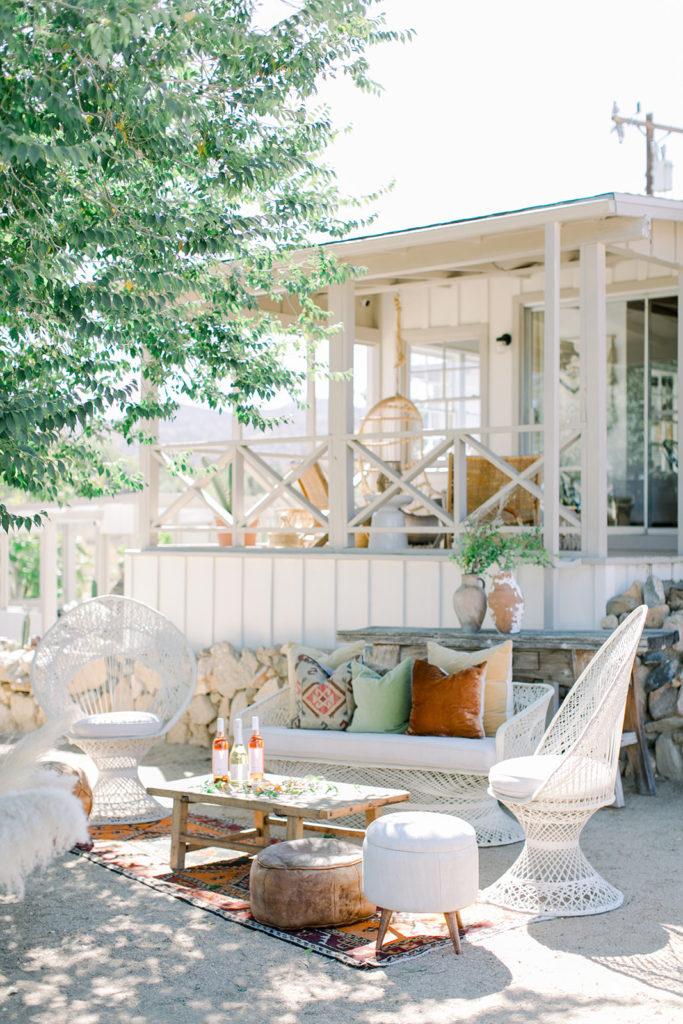 Stylish Desert Inspired Bridal Shower Lounge Area