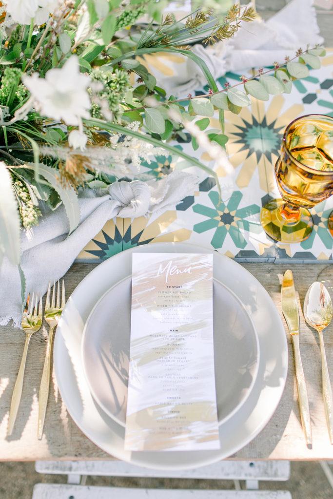 Stylish Desert Inspired Bridal Shower Tableware