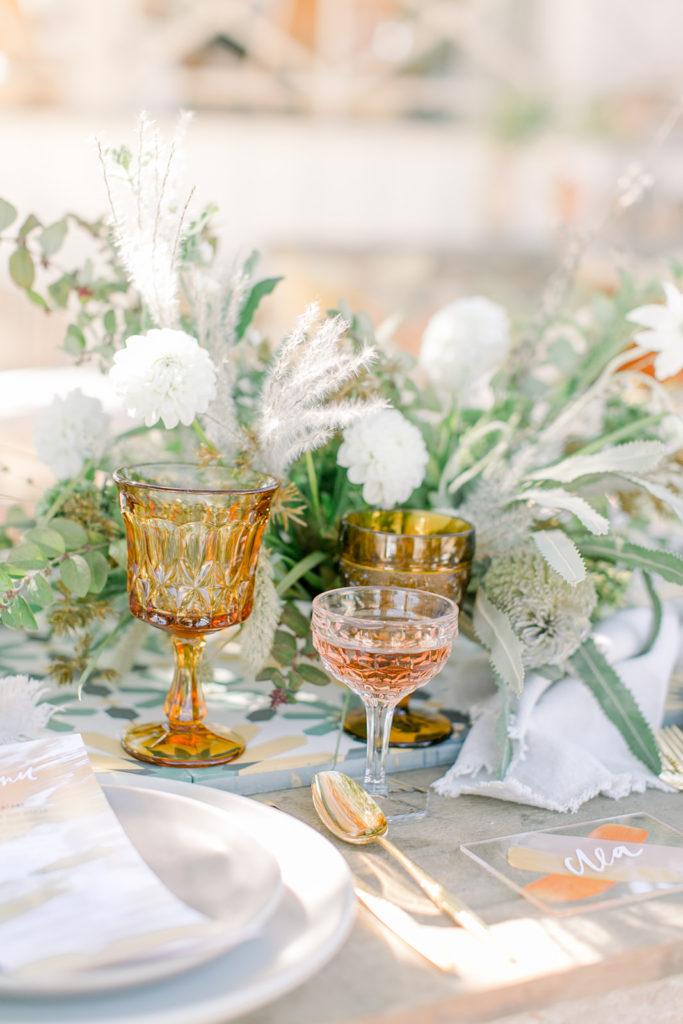Stylish Desert Inspired Bridal Shower Glassware