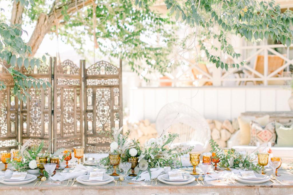 Stylish Desert Inspired Bridal Shower Table Setting Decor