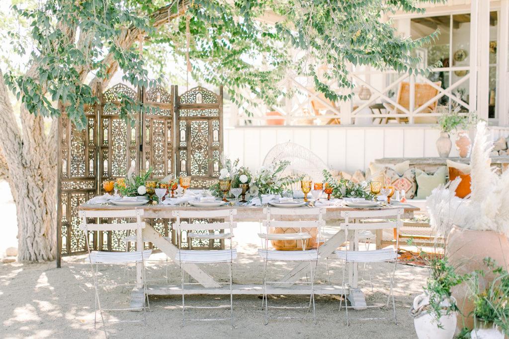 Stylish Desert Inspired Bridal Shower Table Setup