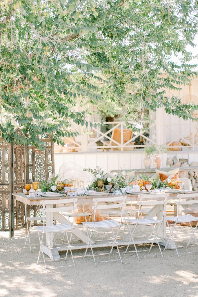 Stylish Desert Inspired Bridal Shower Table Setting