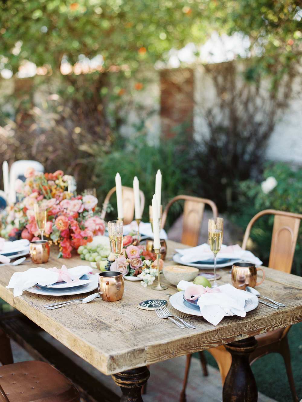 Traditional Wedding With A Modern Twist In Greece Table Setting