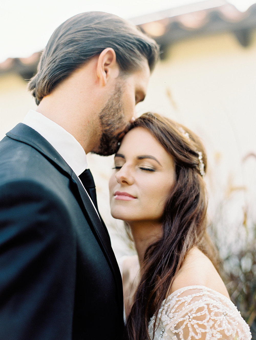 Traditional Wedding With A Modern Twist In Greece Couple Portrait