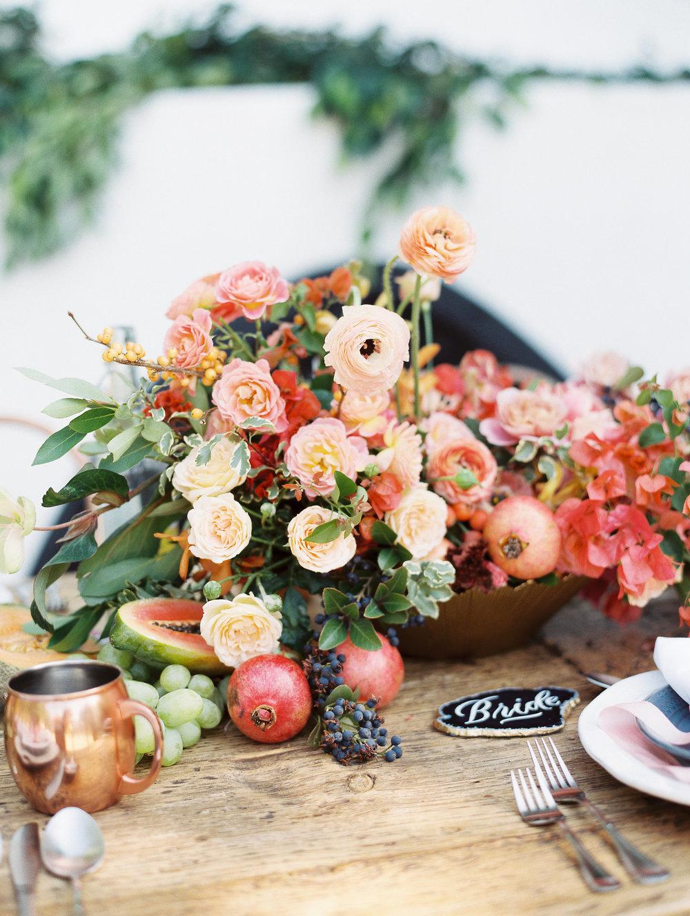 Traditional Wedding With A Modern Twist In Greece Flower Arrangement