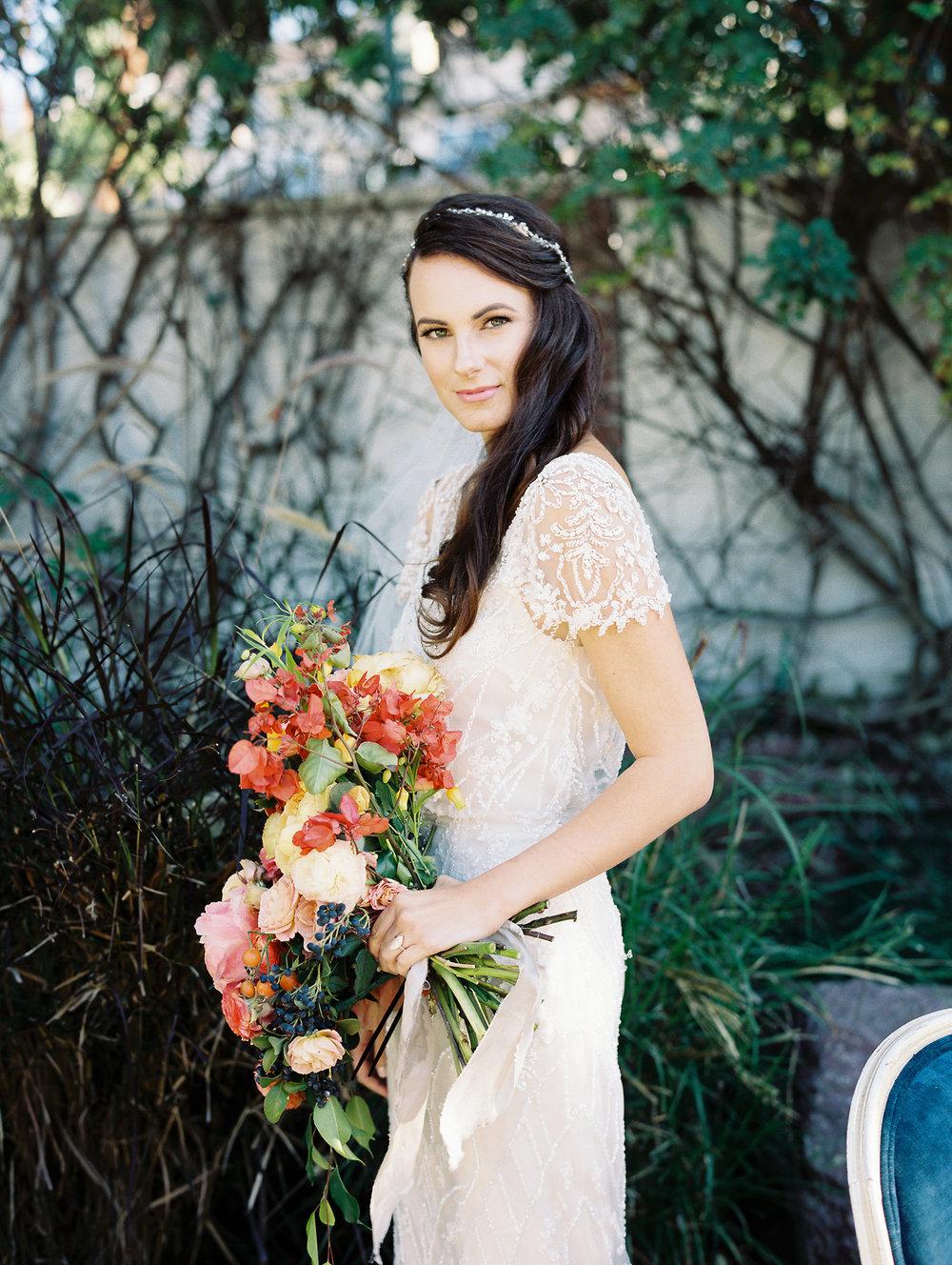 Traditional Wedding With A Modern Twist In Greece Bride Portrait