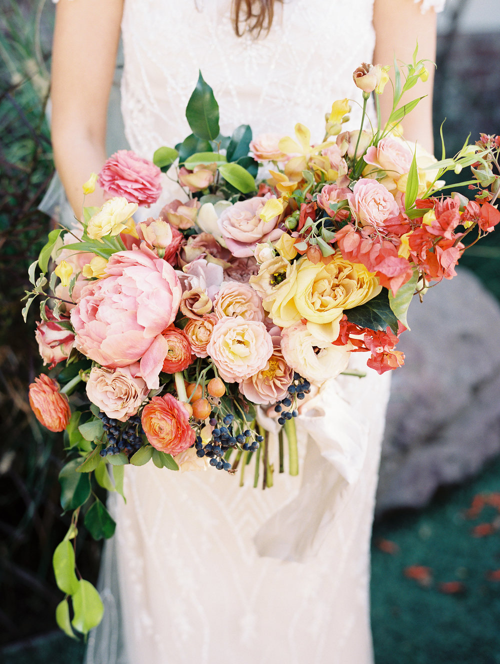 Traditional Wedding With A Modern Twist In Greece Bridal Bouquet