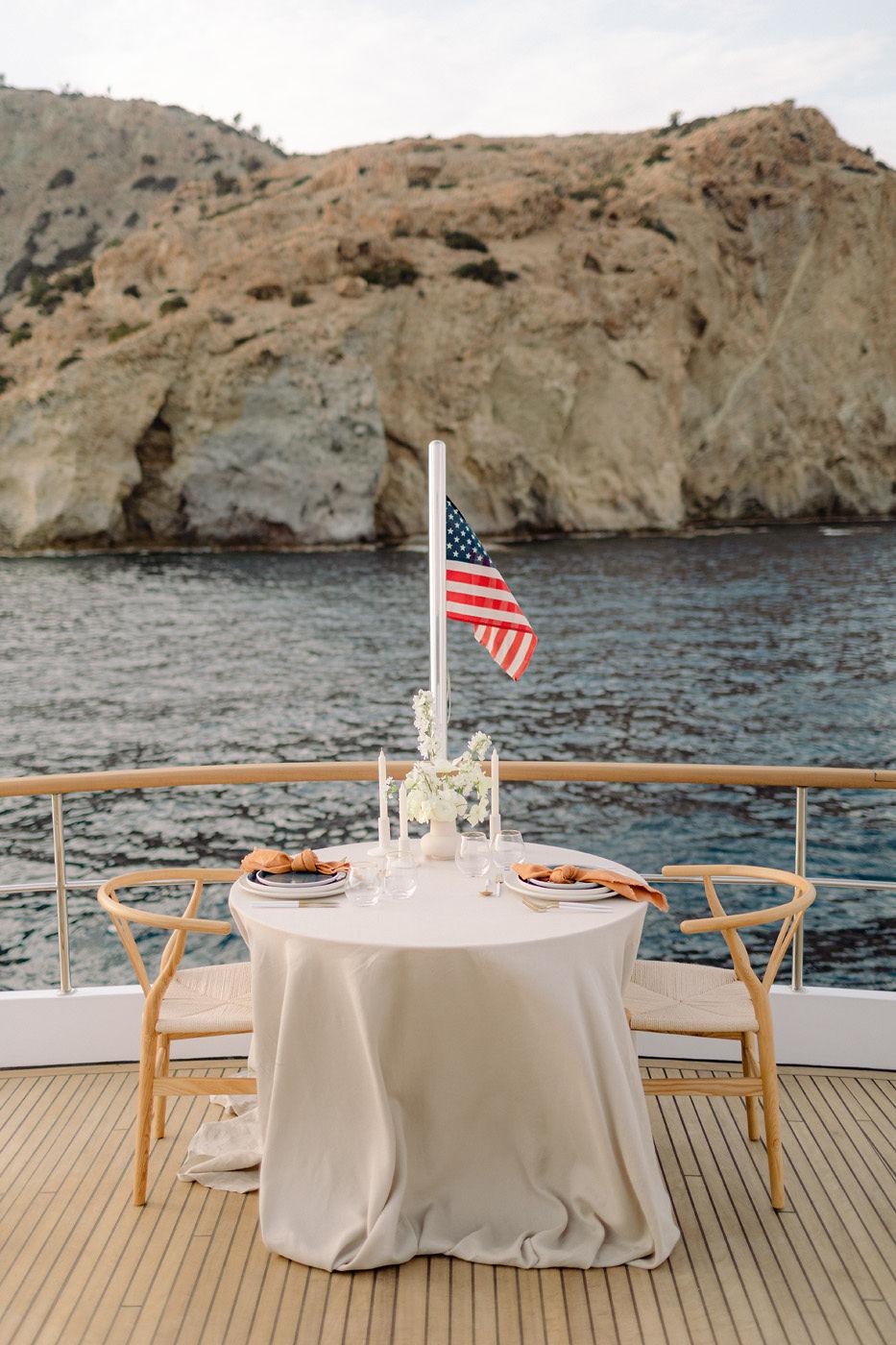 Romantic Dinner On A Yacht
